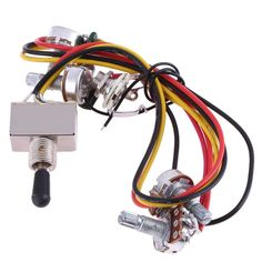 Foxgood China online store offer Wiring Harness Prewired 3 Way Toggle for Gibs LP Electric Guitar product to sale at best price. Guitar Parts, Lp, Chrome, Electric, Wire, China, Cord, Cable