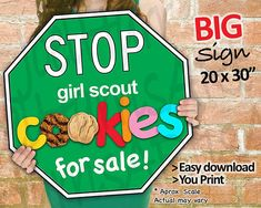 Check out our girl scout cookies selection for the very best in unique or custom, handmade pieces from our shops. Selling Girl Scout Cookies, Girl Scout Cookies Flavors, Girl Scout Cookie Sales, Brownie Girl Scouts, Daisy Girl Scouts, Girl Scout Troop, Scout Mom, Scout Leader, Girl Scout Cookie Image