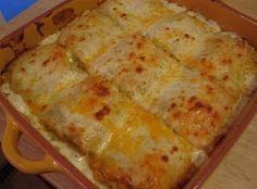 Chicken Alfredo Lasagna Roll-Ups | AllFreeCasseroleRecipes.com