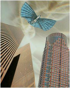 Ucieczka z miasta, [collage 25 x 20 cm], 2012