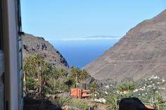 Der Blick von unserem Haus auf Gomera