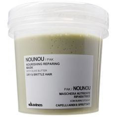 NOUNOU PAK - Davines A complete treatment offering everything dry and brittle hair needs: nourishment, moisture and protection. A nourishing and repairing mask that also contrasts the static effect which causes fly-away hair, making it easier to brush. Natural Hair Care, Natural Hair Styles, Dry Brittle Hair, Fly Away Hair, Best Hair Mask, Hair Care Brands, Coarse Hair, Best Shampoos, Frizzy Hair