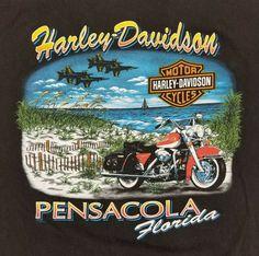 b5f468f6 Men's Harley Davidson T Shirt Motorcycle Pensacola Florida Black Pocket XL # HarleyDavidson #GraphicTee #