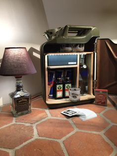 Jerry Can Mini Bar, Handmade Crafts, Diy And Crafts, Car Part Furniture, Metal Containers, Factory Design, Woman Cave, Game Room, Woodworking