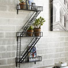 fire escape display shelf