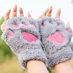 """Kawaii fashion - cat paw gloves - $25.70 use the code """"okaywowcool"""" for 10% off your purchase!"""