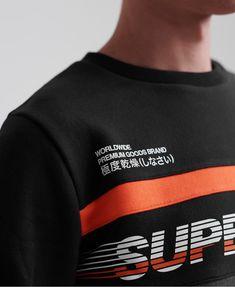 Discover Superdry Worldwide Panel Crew Neck Sweatshirts at Jean Scene. This men's Sweatshirt comes in colour Nordic. Zip Up Hoodies, Crew Sweatshirts, Crew Neck Sweatshirt, Hang Ten, Jiu Jitsu, Dope Shirt, Superdry Mens, Mens Tees, Streetwear Fashion
