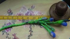 Flower Felt Brooch Necklace Accessories gift  hand by rafaelart, $7.00