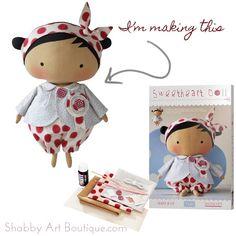 Shabby Art Boutique - Tilda Sweetheart Doll
