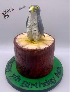 Peregrine falcon sitting on log. All edible Peregrine Falcon, Cake Makers, Creative Cakes, Peregrine, Hawks