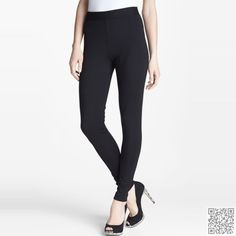 8. Two by #Vince Camuto #Seamed Back Leggings - Top 11 Best #Black Leggings ... → #Fashion #Basic