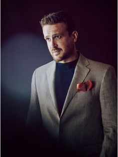 Jason Segel for Esquire UK | plaid jacket and cashmere sweater both by Polo Ralph Lauren #menswear