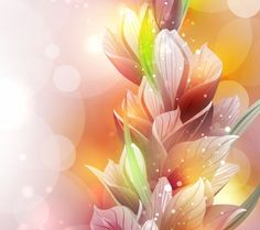 FLOWERS / Free vector Vector flower Spring Lily Flower Vector