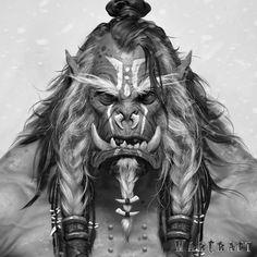 The Art of Warcraft Film - Frostwolf Shaman Elder, Wei Wang on ArtStation at https://www.artstation.com/artwork/1WyAX