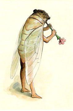 Postcard Mardi Gras Cicada 1896 Design Costume Art New Orleans Louisiana