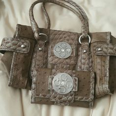 Guess Brown Purse Guess brown purse with matching wallet Guess Bags Shoulder Bags