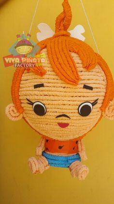 Piñata Pebbles Picapiedra... Los picapiedra una de las mejores caricaturas de la infancia de muchos de nosotros ¡esas si eran caricaturas!