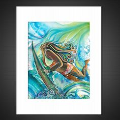 Duck Dive - Matted Print – Colleen Wilcox Art