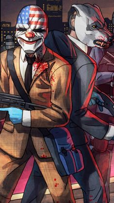 Payday 2 iPhone 5 Wallpaper (640x1136)