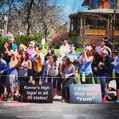 Word play. | The 42 Best Signs From The Boston Marathon