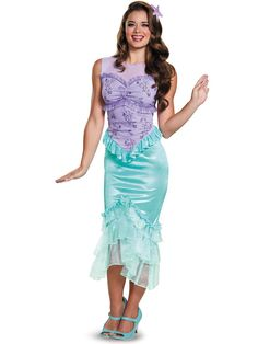 Check out Disney's The Little Mermaid Ariel Girls Tween Costume - Disney Princess Girls Costumes from Wholesale Halloween Costumes