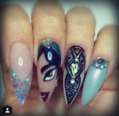 Princess jasmin nails