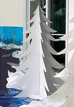 Our exclusive White Fur Tree will add a touch of magic to any winter wonderland scene. Each cardboard White Fur Tree prop has a reflective iridescent shine. Snow Theme, Winter Theme, Christmas Parade Floats, Winter Wonderland Theme, Winter Wonderland Christmas Party, Winter Wonderland Decorations, Winter Holiday, Fur Tree, Dance Themes