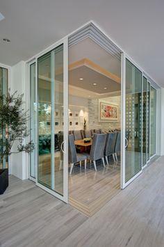 Sliding Door Glass Replacement {Catch Your Ideas} - cakhasan Door Glass Replacement, Stacking Doors, Interior Design Degree, Corner Door, Design Innovation, Patio Doors, Entry Doors, Oak Doors, Stone Flooring