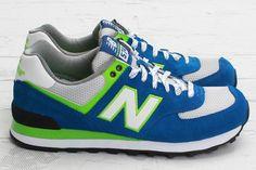 New Balance 574   Blue & Green