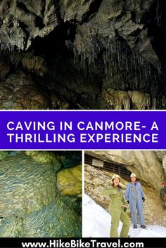 Caving in Canmore - in the Rat's Nest Cave is a thrilling experience. Look forward to rappelling in the dark, tight squeezes & underground beauty. Canadian Travel, Canadian Rockies, World Travel Guide, Travel Guides, Western Canada, Visit Canada, Camping Guide, Banff National Park, Alberta Canada