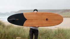 Tide X Otter Takes Handmade Wooden Surfboards To Another Level Surfboard Shapes, Wooden Surfboard, Plane Design, Surf Design, Custom Skateboards, Urban Decor, Skateboard Design, Balance Board, Yanko Design