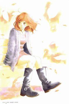 Let's spread Ao haru ride to all over the world with us to get an anime stuff you want free. Manga Girl, Manga Anime, Manga Love, Anime Art, Futaba Y Kou, Futaba Yoshioka, Fanart, Ao Haru Ride Anime, Miraculous