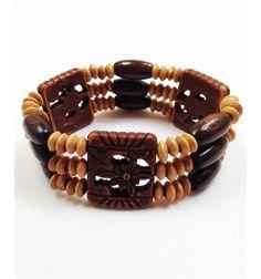 Multishaped Bead, Wooden Bracelet