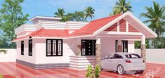 Single story house plan designed to be build on square meters Single Floor House Design, Best Modern House Design, Simple House Design, House Outside Design, House Front Design, Roof Design, Bungalow House Plans, Bungalow House Design, Dream House Plans