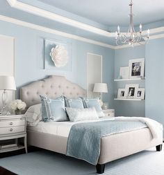 Gentil Bedroom In Brittany Blue Is Great In Both Summer And Winter Months.