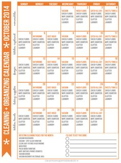 Looking for a proven, easy & effective method to get your house clean and in shape? Print out your own FREE October calendar and get started. It's easier than you think!
