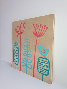Original Aqua Coral Nursery Art Coral Aqua by SweetBananasArt, $35.00