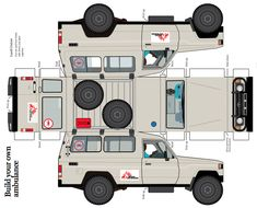 print off your own cut out MSF Land Cruiser