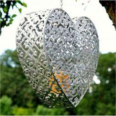 Medium Convent Hanging Heart Candle Holder - Casafina