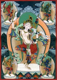 Machig Labdron, the Dakini of Chod. Central to Chod is the principle of the Dakini, the personification of enlightened feminine energy Wisdom beyond name and form. As an archetype, the feminine principle completely pervades the spiritual traditions of Tantric Buddhism.