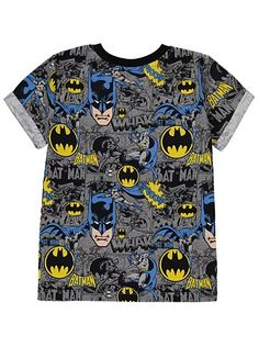 Batman All-Over Print T-shirt, read reviews and buy online at George. Shop from our latest range in Kids. They'll love showing off their comic cool points in...