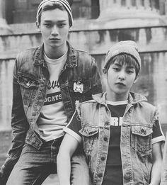 Xiumin and Chen EXO