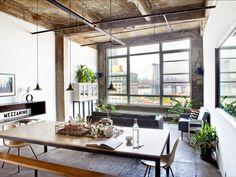 Un loft à Brooklyn : vue sur le pont