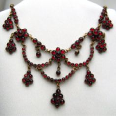 If you appreciate smooth fashion an individual will love this site! Garnet Jewelry, Red Jewelry, Garnet Necklace, Necklace Box, Photo Jewelry, Jewelry Box, Jewelry Necklaces, Women Jewelry, Beaded Necklace