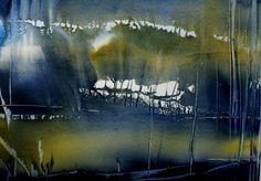 Aquarel Liliane Goossens Watercolor Trees, Watercolor Sketch, Watercolor Landscape, Abstract Watercolor, Watercolor Illustration, Abstract Landscape, Watercolour Painting, Landscape Paintings, Abstract Art