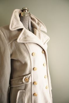 Cream peacoat