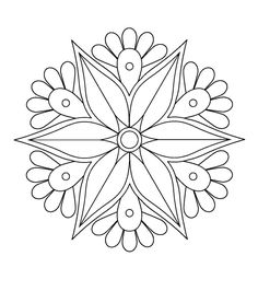 Rangoli patterns rangoli patterns mandala coloring pages, ra Mandala Drawing, Mandala Painting, Dot Painting, Mandala Art, Easy Mandala, Rangoli Patterns, Stencil Patterns, Mosaic Patterns, Embroidery Patterns