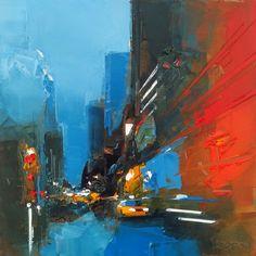 L'oeuvre unique et originale New York Red a été réalisée par l'artiste Daniel Castan, qui réalise des peintures représentant souvent des grandes villes américaines, avec un style urbain très caractéristique, et une technique originale a...