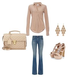 Casual by mganttphd on Polyvore featuring Bobi, AG Adriano Goldschmied, Yves Saint Laurent and Irene Neuwirth