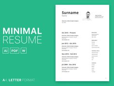Free minimal curriculum vitae set template in multiple file format. It is high-quality, creative templates that may help you land your dream job or simply create a better looking business. Resume Template Free, Free Resume, Curriculum Vitae Template, Graphic Design Resume, Game Design, Minimalism, How To Look Better, Names, Lettering